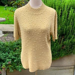 Pearl studded knit
